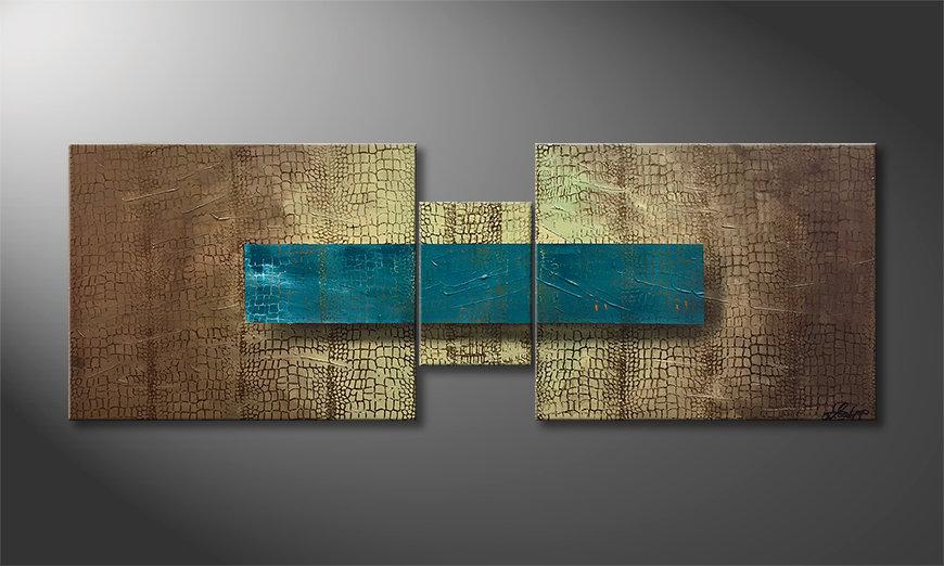 Das Wandbild Oasis 140x50x2cm