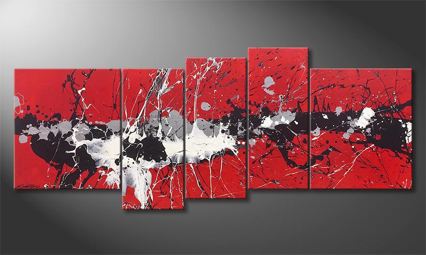 Das Wandbild Outburst 190x80x2cm