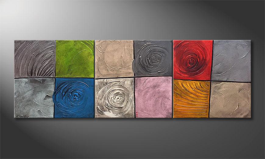 Das Wandbild Potpourri Of Moments 210x70x2cm