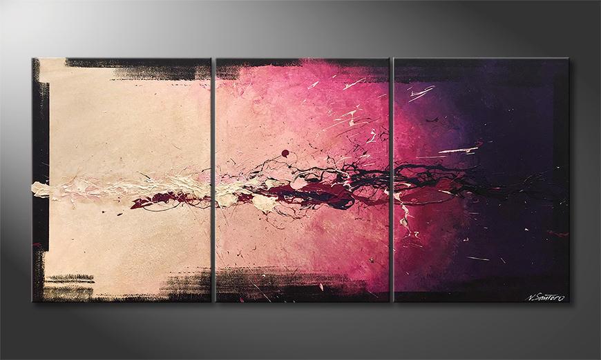 Das Wandbild Purple Blob 150x70x2cm