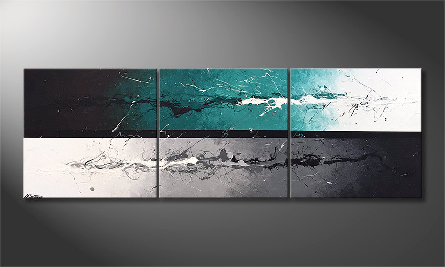 Das Wandbild Refresh Splash 210x70x2cm