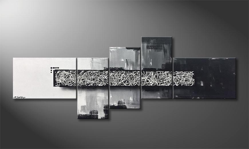Das Wandbild Rumble In The Box 210x80x2cm