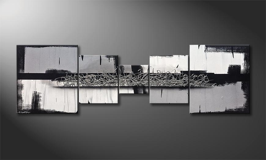 Das Wandbild Silver Blade 230x70x2cm