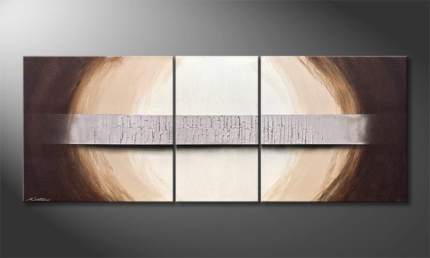 Das Wandbild Silver Bridge 180x70x2cm