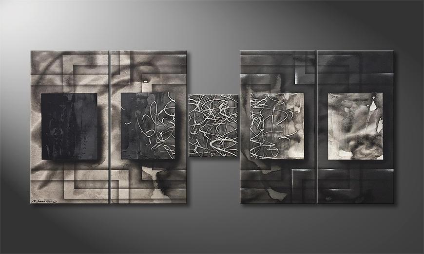 Das Wandbild Silver Fog 140x60x2cm