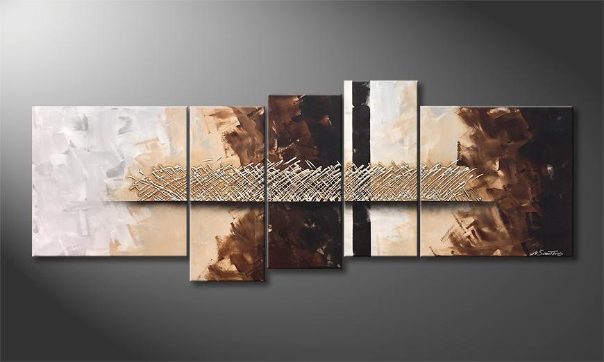 Das Wandbild Silver Matrix 210x80x2cm