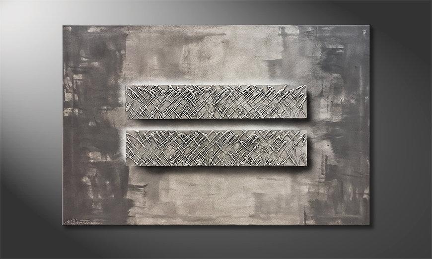 Das Wandbild Silver Twins 120x80x2cm