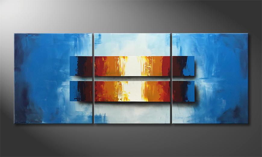 Das Wandbild Summer Day 180x70x2cm