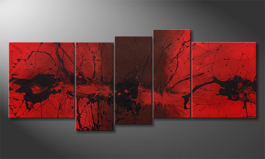 Das Wandbild Summer Heat 190x80x2cm
