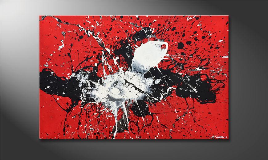 Das Wandbild The Big Bang 120x80x2cm