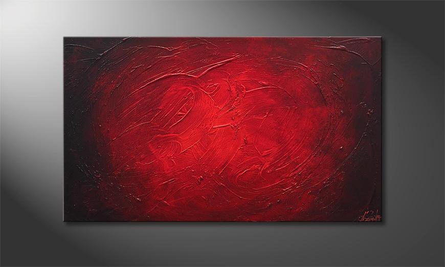 Das Wandbild The Glow 100x60x2cm