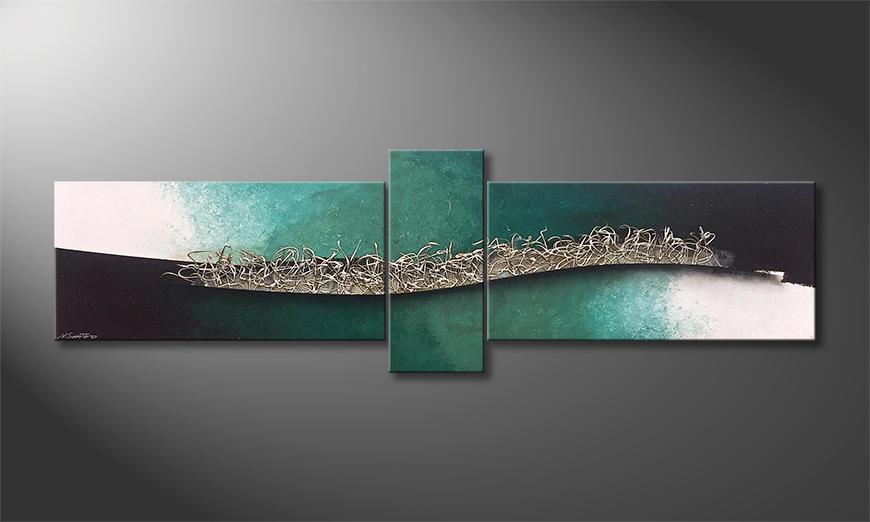 Das Wandbild The Wave 230x70x2cm