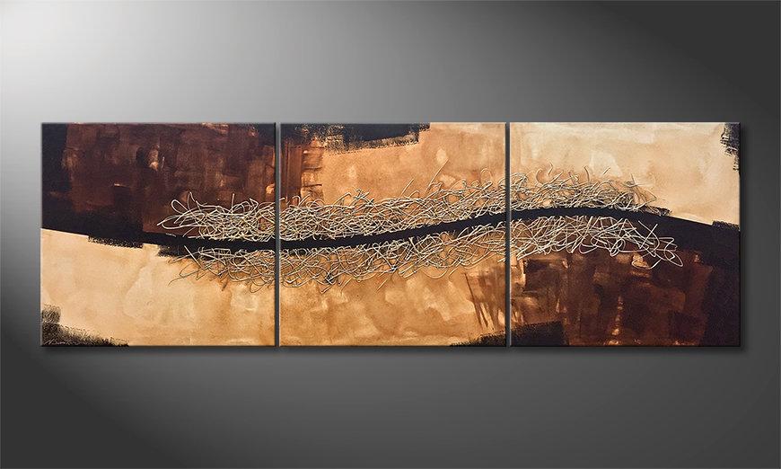 Das Wandbild Thin Line Between 240x80x2cm