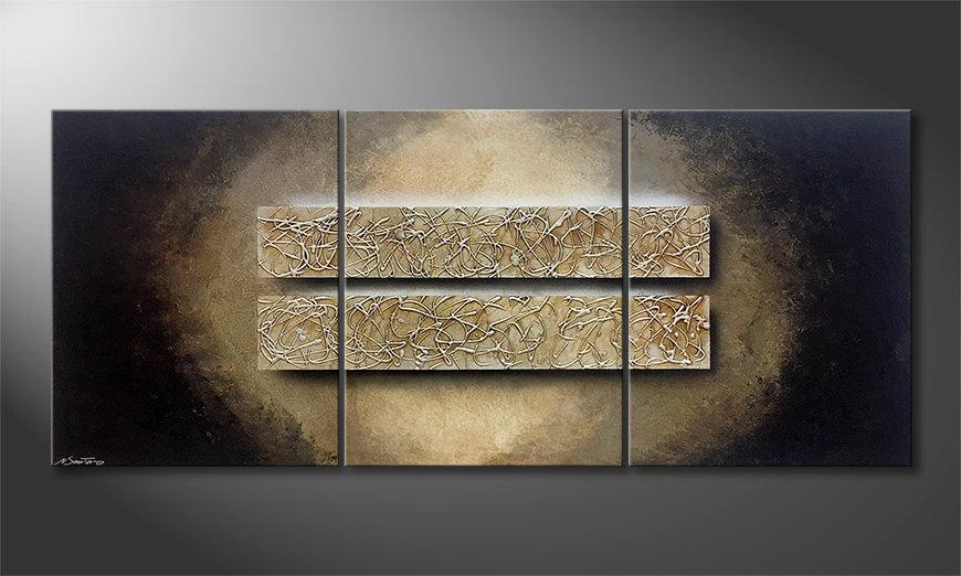 Das Wandbild Two Moments 210x90x2cm