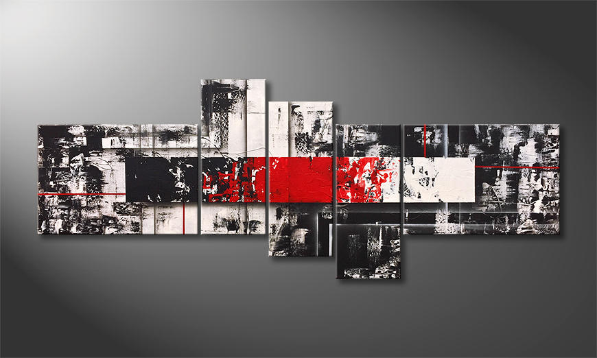 Das Wandbild Vivid Contrast 230x90x2cm
