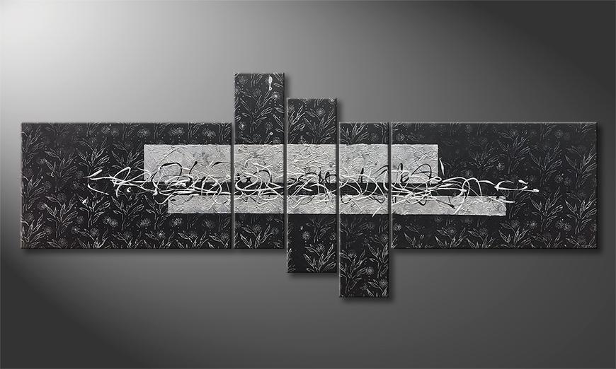 Das Wohnzimmerbild Cold Night 220x90x2cm