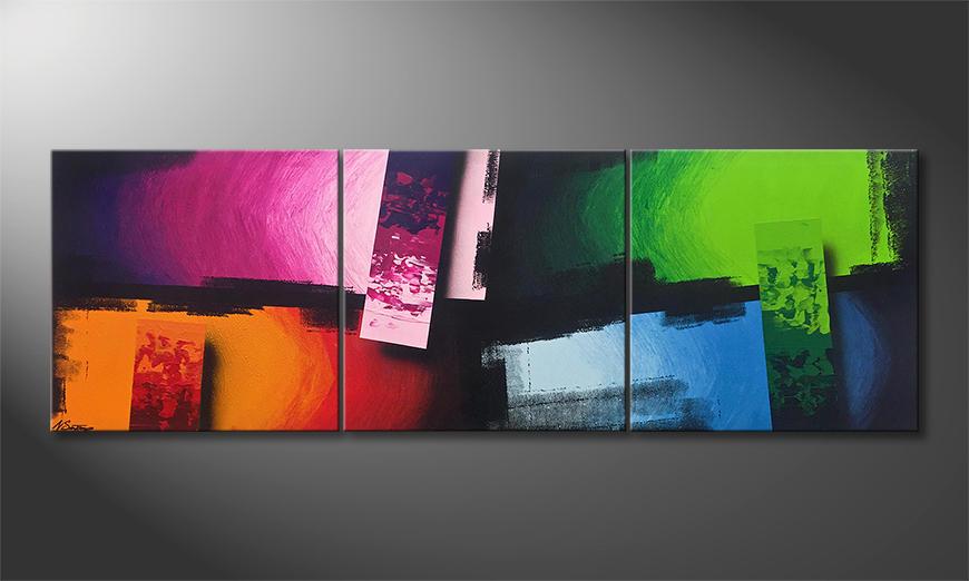 Das Wohnzimmerbild Color Clash 210x70x2cm