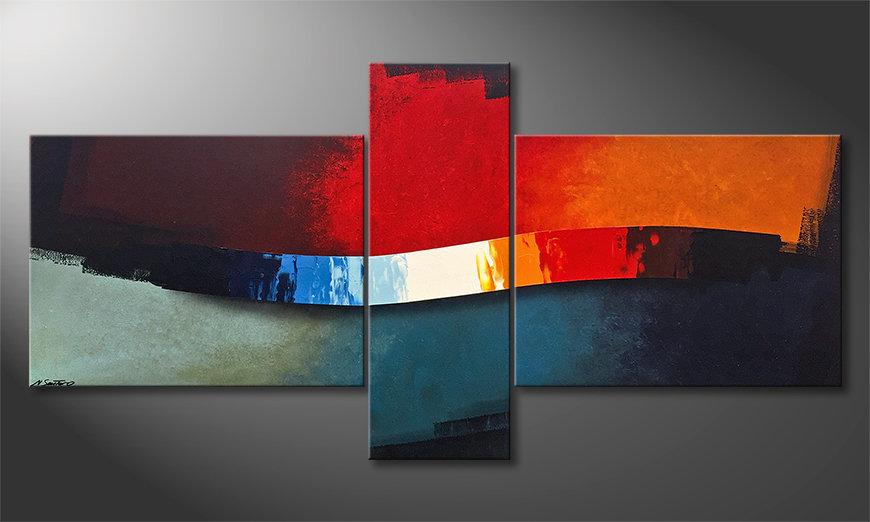 Das Wohnzimmerbild Color Wing 220x110x2cm