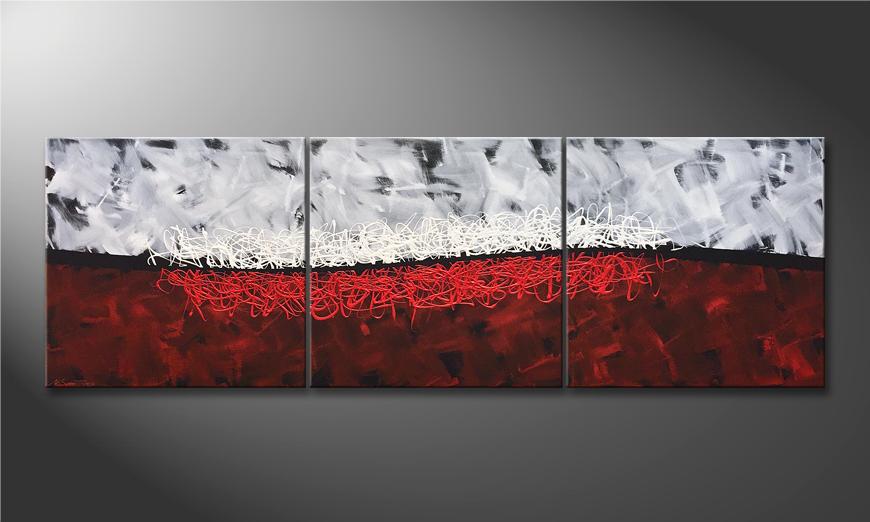 Das Wohnzimmerbild Duality 210x70x2cm