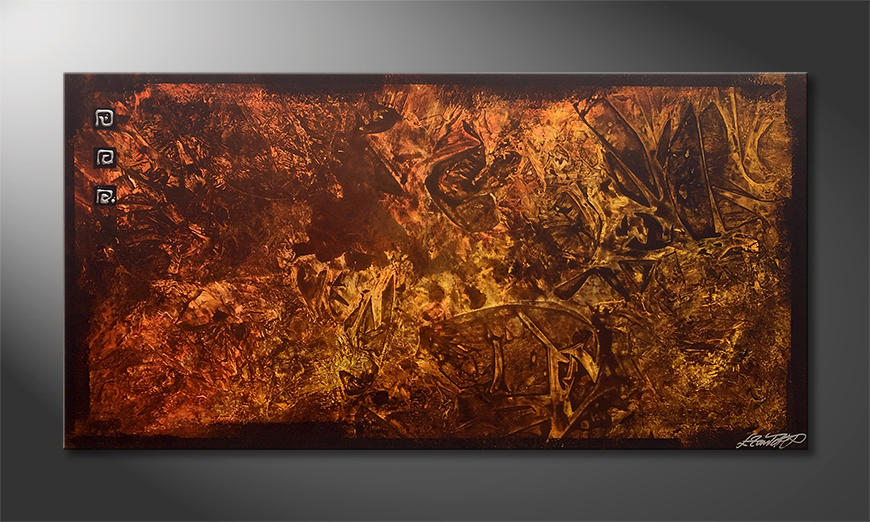 Das Wohnzimmerbild Earth Crinkles 140x70x2cm