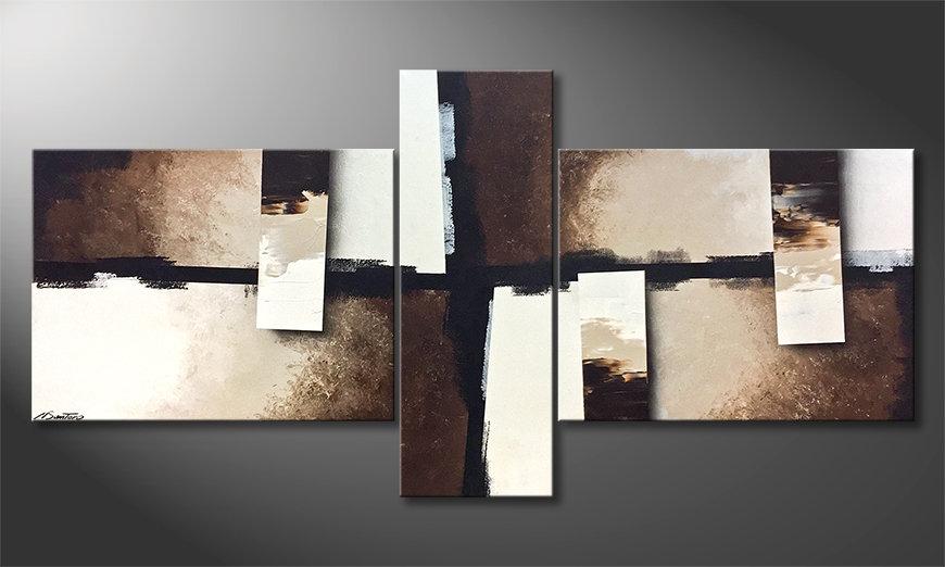 Das Wohnzimmerbild Earth Pieces 220x110x2cm