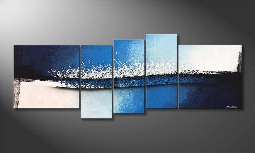 Das Wohnzimmerbild Enlightened Wave 210x80x2cm