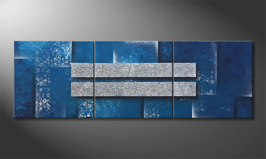Das Wohnzimmerbild Frost Pattern 210x70x2cm