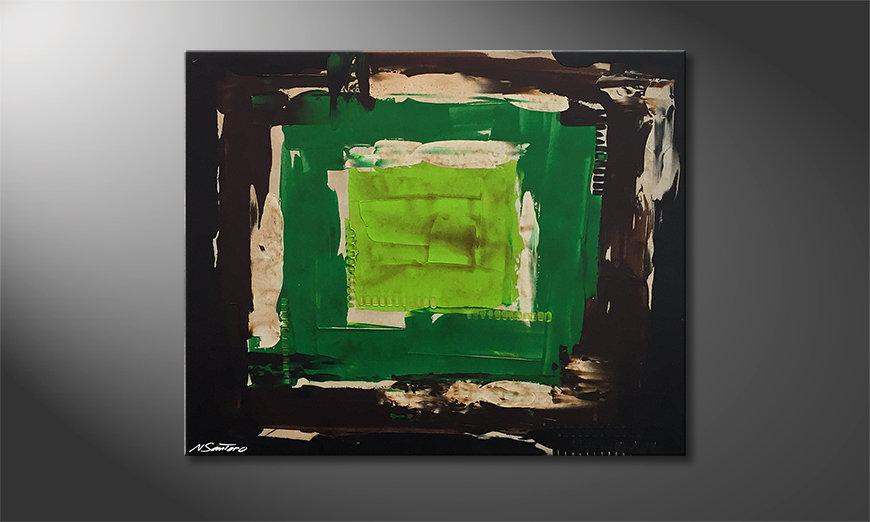 Das Wohnzimmerbild Green Eye 100x80x2cm