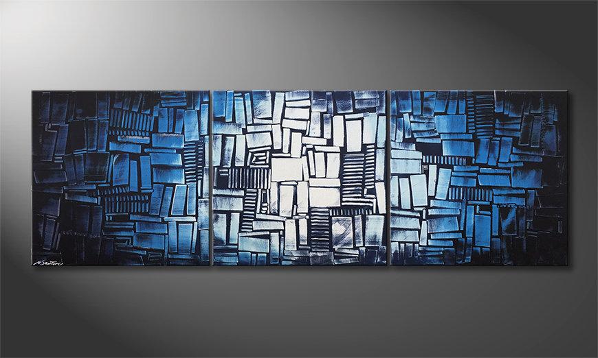 Das Wohnzimmerbild Ice Cubes 210x70x2cm