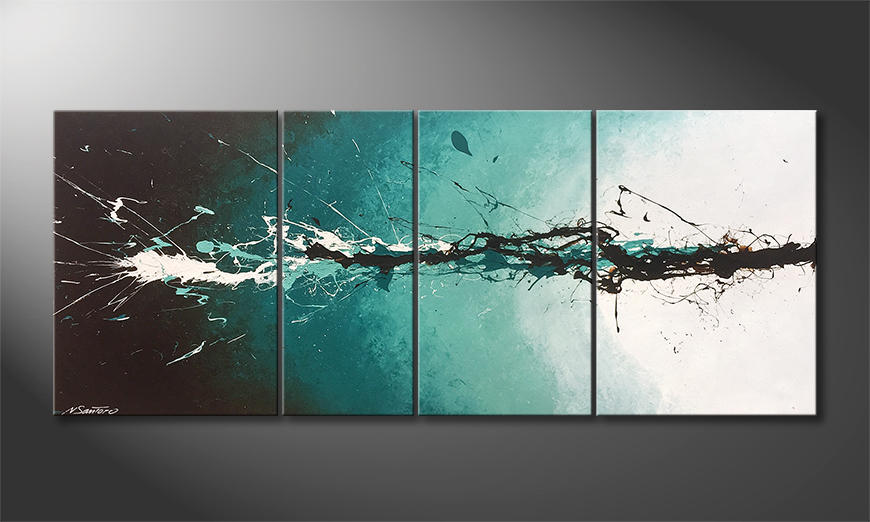 Das Wohnzimmerbild Into The Water 170x70x2cm