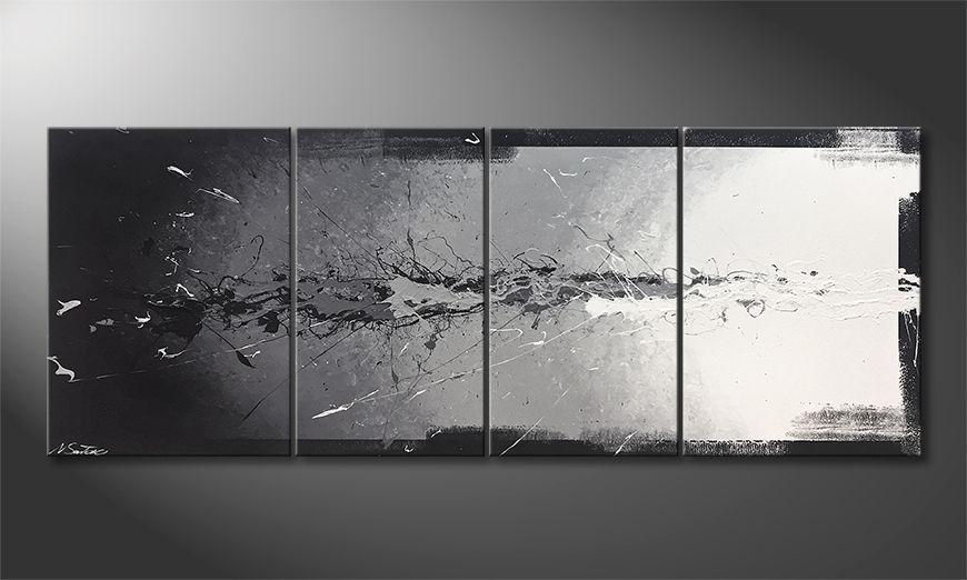 Das Wohnzimmerbild Light Splasher 180x70x2cm