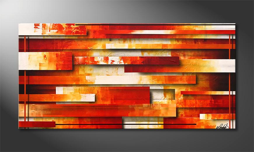 Das Wohnzimmerbild Lines Of Fire 140x70x2cm