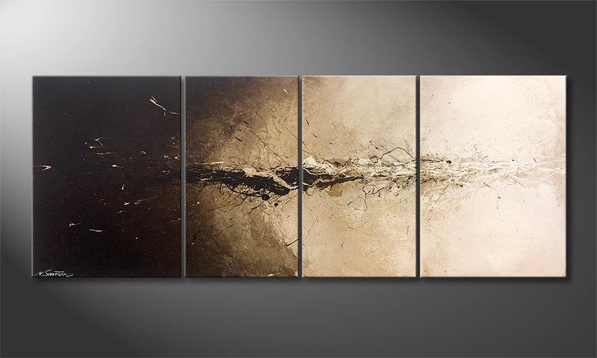 Das Wohnzimmerbild Liquid Earth 180x70x2cm