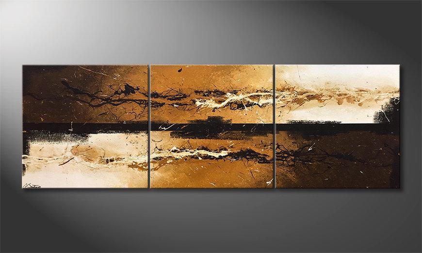 Das Wohnzimmerbild Liquid Earth 210x70x2cm