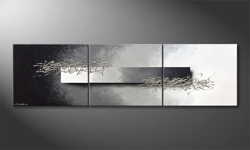 Das Wohnzimmerbild Opinions 180x50x2cm