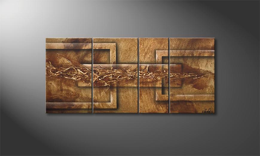 Das Wohnzimmerbild Quantum Leap 110x50x2cm