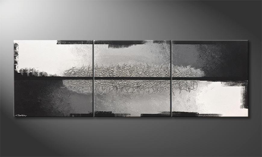 Das Wohnzimmerbild Silver Break 240x80x2cm