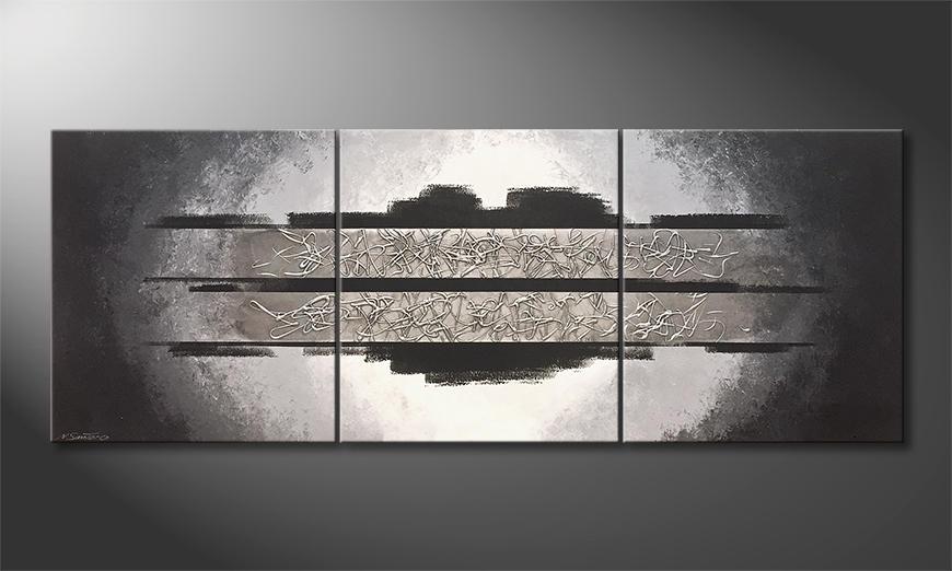 Das Wohnzimmerbild Silver Moonlight 210x80x2cm
