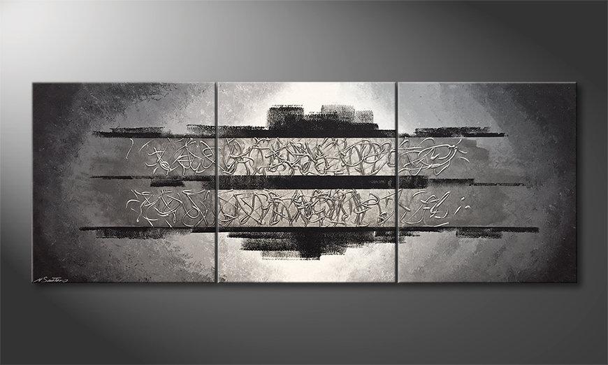 Das Wohnzimmerbild Silver Vision 210x80x2cm