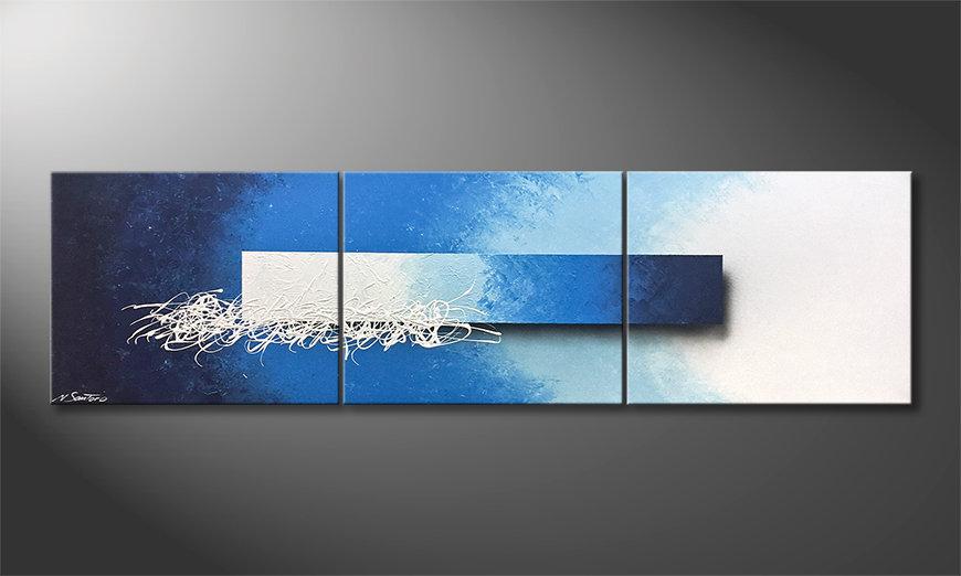 Das Wohnzimmerbild Water Melody 180x60x2cm