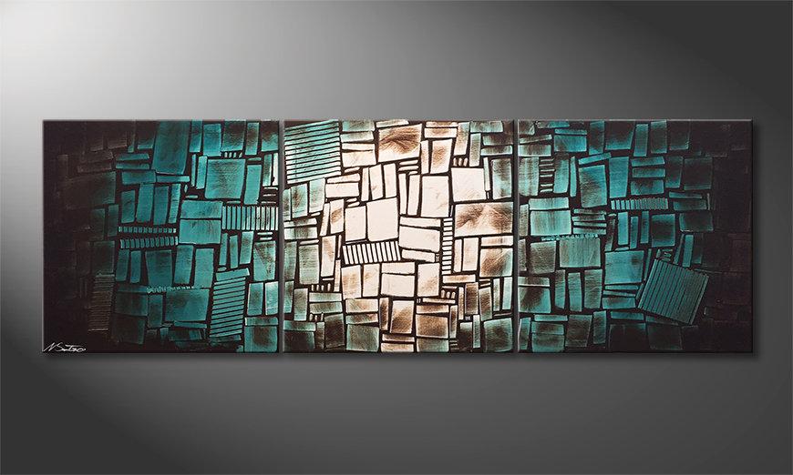 Das Wohnzimmerbild Water Shine 210x70x2cm