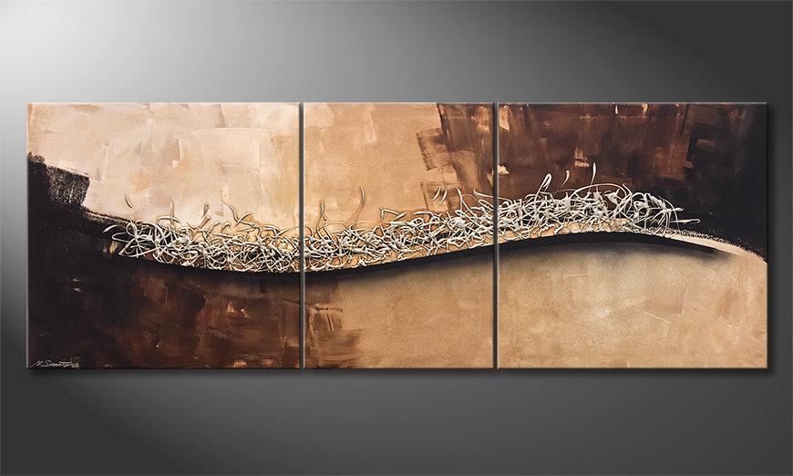Das Wohnzimmerbild Wicked Wave 190x70x2cm