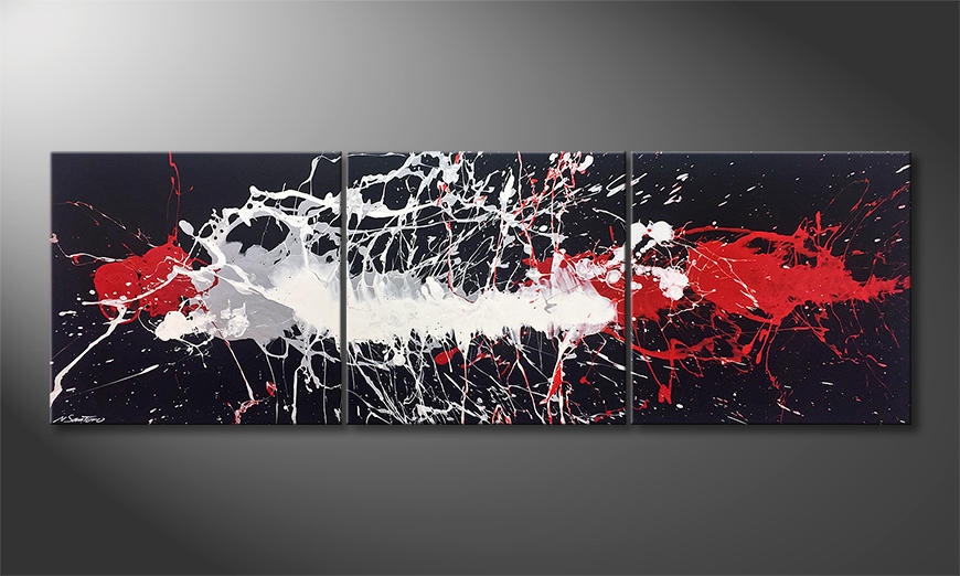 Das exklusive Bild Blowing Light 210x70cm
