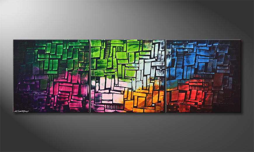 Das exklusive Bild Cubic Colors 210x70x2cm