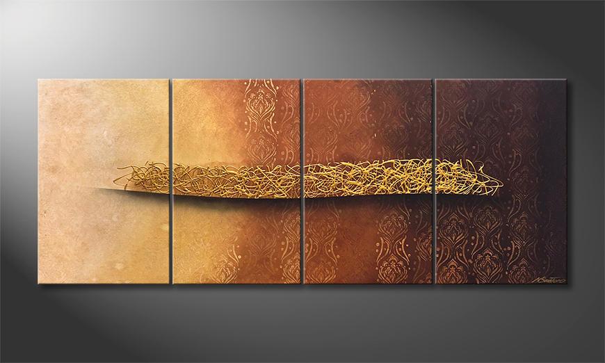 Das exklusive Bild Golden Whisper 200x80x2cm