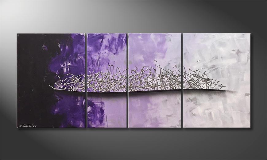 Das exklusive Bild Purple Melody 170x70x2cm