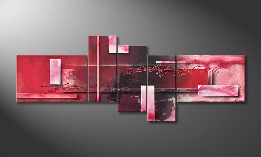 Das exklusive Bild Red Clouds 230x90x2cm