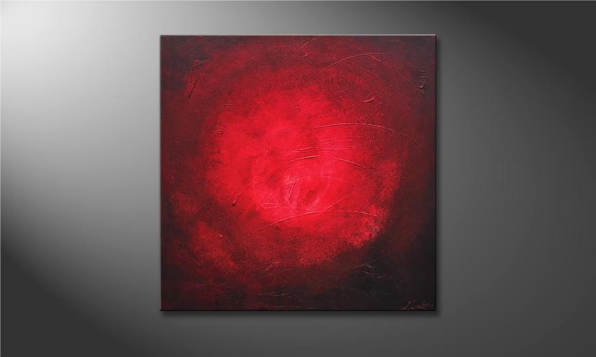 Das exklusive Bild Red Moon 80x80x2cm