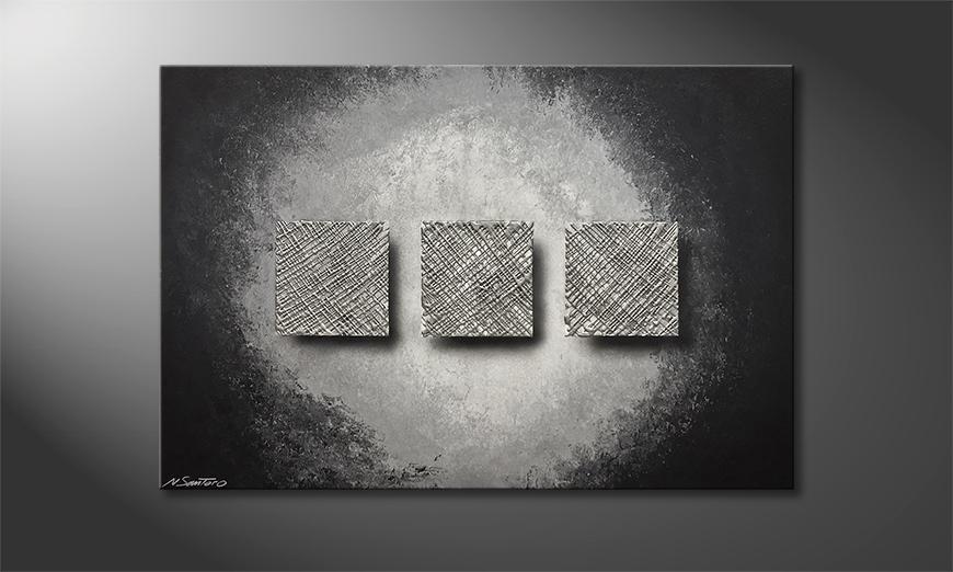Das exklusive Bild Silver Weave 120x80x2cm