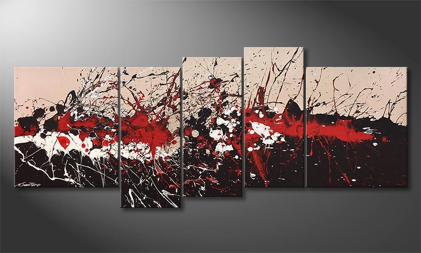 Das exklusive Bild Sizzling Red 190x80x2cm